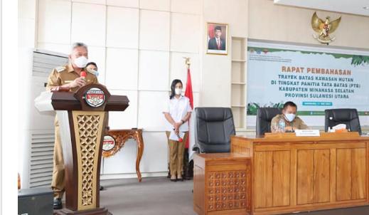 Inilah yang Disampaikan Bupati Wongkar Saat Rapat Panitia Tata Batas Kawasan Hutan Kabupaten Minahasa Selatan
